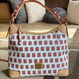 Dooney & Bourke NC State Leather/Canvas Bag❤️